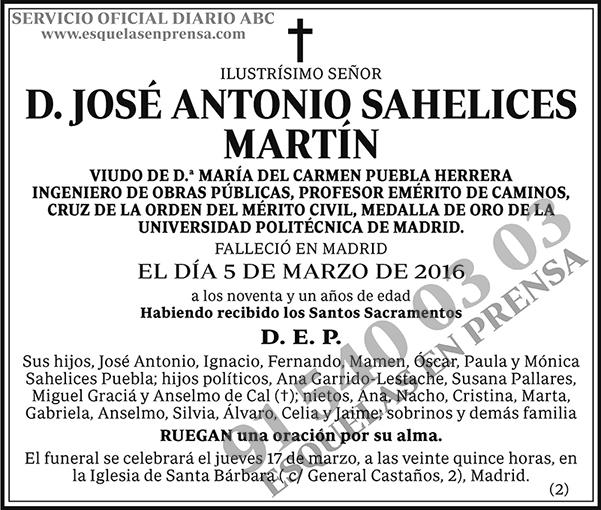 José Antonio Sahelices Martín